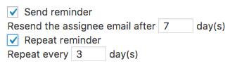 repeat reminder settings