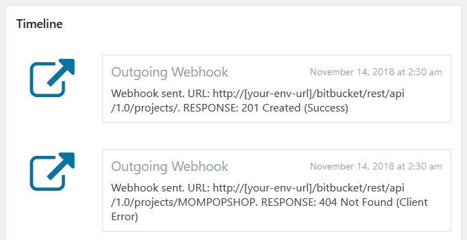Webhook call failed error 404 not found