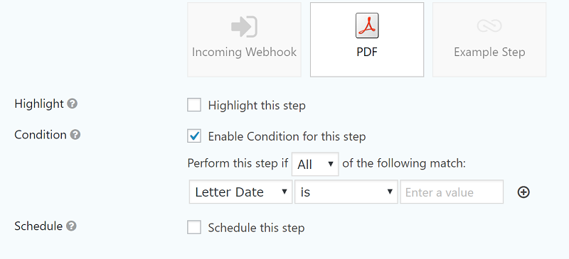 How to use conditional logic to activate workflow step