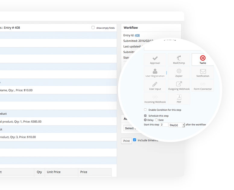Powerful and flexible plugin that enables customers to create workflows tailored to their business