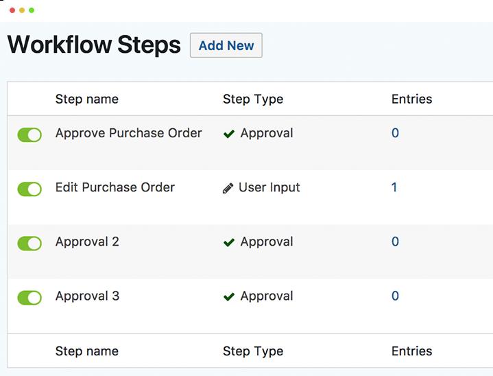Rapid implementation of workflow steps